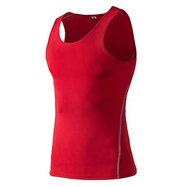Herre Singlet til jogging Ermeløs Fort Tørring Stretch Svettereduserende Genser Singleter Topper til Trening & Fitness Racerløp