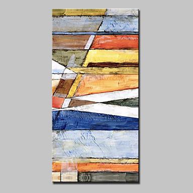 Håndmalte Abstrakt Lodrett, Abstrakt Moderne Lerret Hang malte oljemaleri Hjem Dekor Et Panel