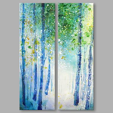 Pintura a Óleo Pintados à mão - Abstrato Abstracto Modern Tela de pintura