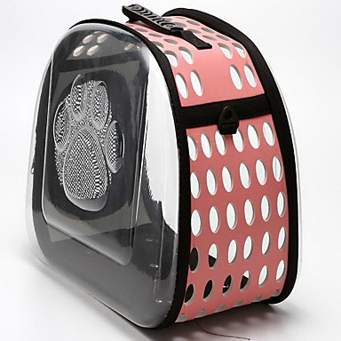 Cat Dog Carrier & Travel Backpack Pet Carrier Portable Breathable Footprint/Paw Black Gray Pink