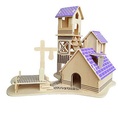 3D Puzzles Jigsaw Puzzle Model Building Kit Famous buildings Architecture 3D DIY Natural Wood Classic Kid's Unisex Gift