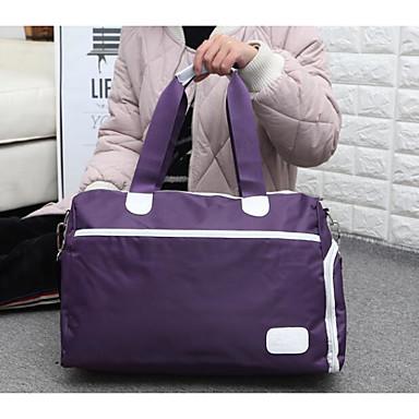 Unisex Travel Bag PU Oxford Cloth Polyester All Seasons Casual Outdoor Rectangle Zipper Blue Black Purple Fuchsia