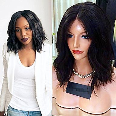 Remy-hår Blonde Forside Parykk Krop Bølge 130% tetthet 100 % håndknyttet Afroamerikansk parykk Naturlig hårlinje Kort Medium Lang Dame