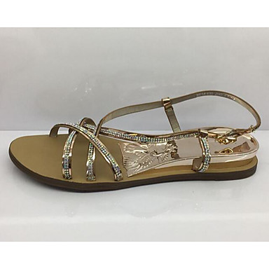 Women's Sandal Comfort Summer Suede Casual Gold Silver Flat
