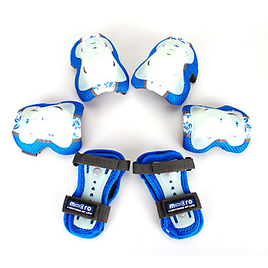 Kids' Adult Protective Gear Knee Pads + Elbow Pads + Wrist Pads for Cycling Skateboarding Inline Skates Eases pain Breathable Luminous 6