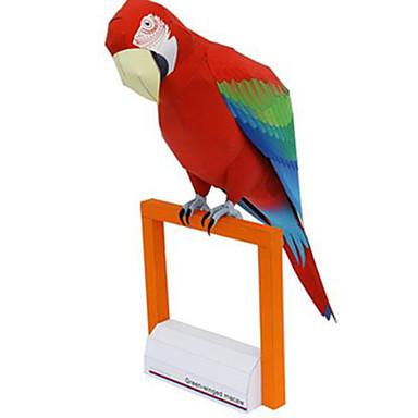 3D palapeli Paperimalli Pienoismallisetit Neliö Parrot Eläimet DIY Kova kartonki Klassinen Poikien Unisex Lahja