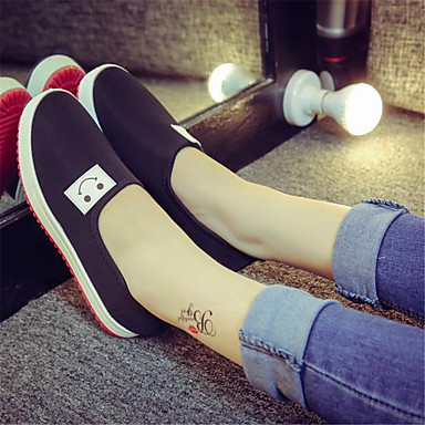 Women's Shoes Canvas PU Spring Comfort Sneakers For Casual Black