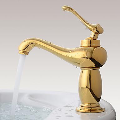 Kylpyhuone Sink hana - Laajallle ulottuva Ti-PVD Integroitu Yksi kahva yksi reikä