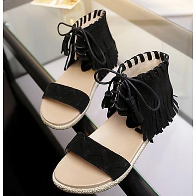 Naiset Kengät PU Kevät Comfort Mokkasiinit Käyttötarkoitus Kausaliteetti Musta Ruskea Manteli