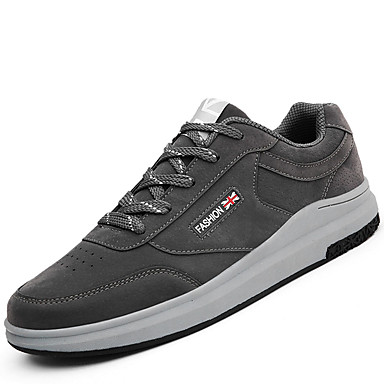 Men's Shoes Breathable Mesh PU Spring Fall Light Soles Comfort Athletic Shoes Lace-up for Casual Outdoor Black Gray Red Blue