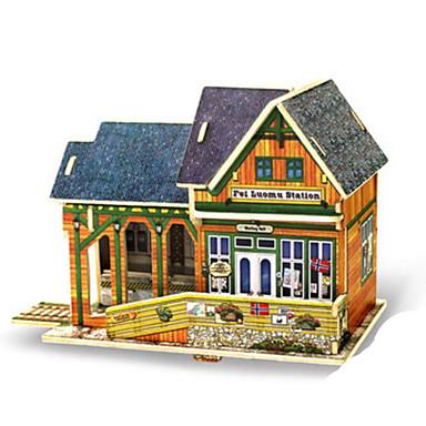 Robotime 3D Puzzles Jigsaw Puzzle Wood Model Model Building Kit Architecture 3D DIY Wood Classic Kid's Adults' Unisex Gift
