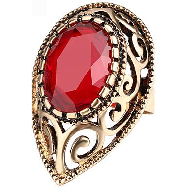 Dame uttalelse Ringe Ring Krystall Kubisk Zirkonium Enkelt design Unikt design Rhinestone Personalisert Euro-Amerikansk Tyrkisk Luksus