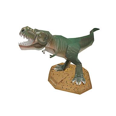 voordelige 3D-puzzels-3D-puzzels Bouwplaat Modelbouwsets Tyrannosaurus Dinosaurus DHZ Hard Kaart Paper Klassiek Kinderen Unisex Jongens Speeltjes Geschenk