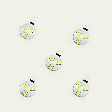 5pcs 1W 75 lm G4 LED-lamper med G-sokkel 6 leds SMD 5630 Varm hvit Hvit DC 12 V