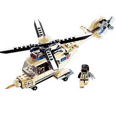 JIE STAR Blocos de Construir Brinquedos de Montar Quadrada Pato Aeronave Helicóptero Helicóptero Para Meninos Unisexo Brinquedos Dom