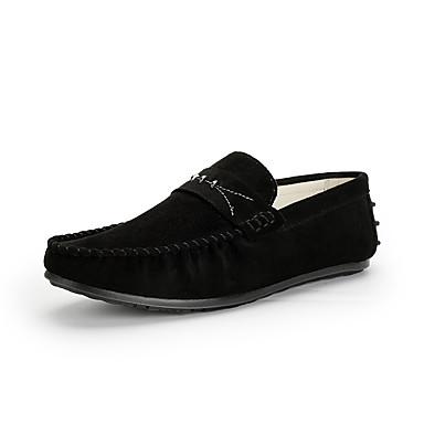 Férfi cipő Nubuk bőr Ősz / Tél Kényelmes Vitorlás cipők Gyalogló Szürke / Barna / Kék