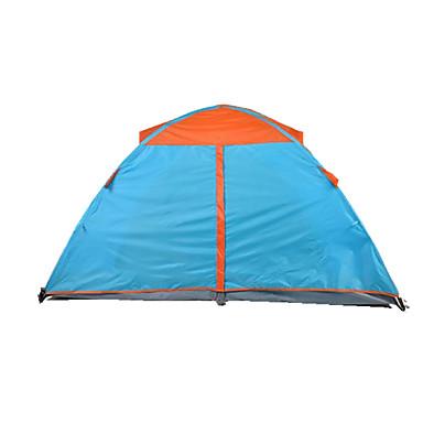 TUOBING® 2 personer Telt Dobbelt camping Tent Brette Telt Varm Vanntett Regn-sikker Anti-Insekt til Lerret CM