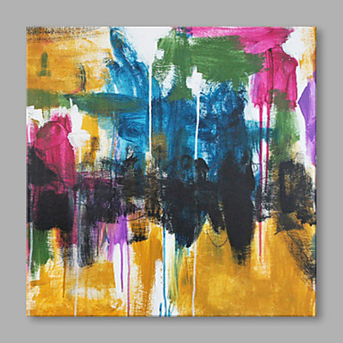 Pintados à mão Abstrato Quadrada, Alta qualidade Tela de pintura Pintura a Óleo Decoração para casa 1 Painel