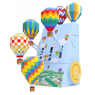 3D Puzzles Balls Paper Model Balloon Paper Craft Model Building Kit Architecture DIY Inflatable Party Classic Unisex Gift