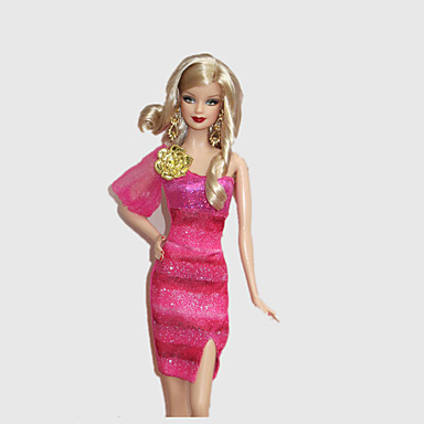 Fashion Dress Rosenball For Barbie Doll For Girl's Doll Toy