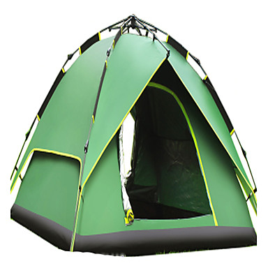 CAMEL 2 persons Tent Double Camping Tent One Room Family Camping Tents Ventilation Rain-Proof Foldable for Camping / Hiking 2000-3000 mm