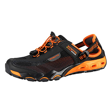 Unisex Athletic Shoes Comfort Light Soles Summer Fall Breathable Mesh Upstream Shoes Athletic Casual Outdoor Flat Heel Dark Blue Gray