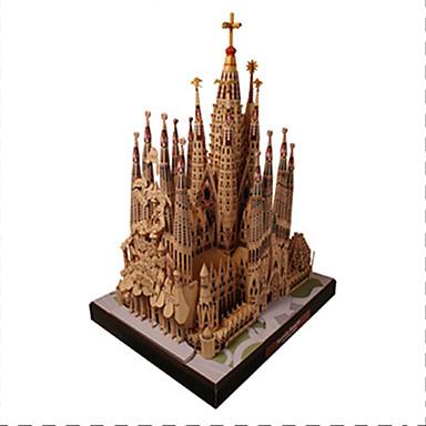3D palapeli Paperimalli Kuuluisa rakennus Kirkko katedraali DIY Kova kartonki Lasten Unisex Lahja