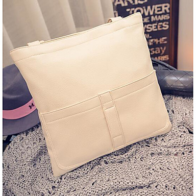 Women Bags All Seasons PU Shoulder Bag for Casual Outdoor White Black Apricot