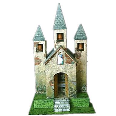 voordelige 3D-puzzels-3D-puzzels Modelbouwsets Papierkunst Windmolen Beroemd gebouw Kerk (83 DHZ Simulatie Hard Kaart Paper Klassiek Kinderen Unisex Jongens Speeltjes Geschenk