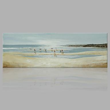 Pintura a Óleo Pintados à mão - Abstrato Abstracto Moderno / Contemporâneo Tela de pintura
