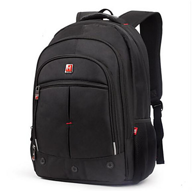 Men's Bags Polyester Backpack for Casual All Seasons Blue Black