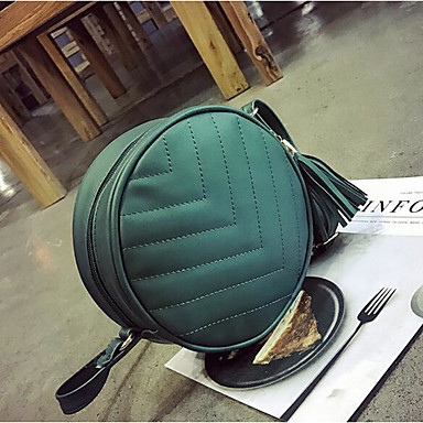 Women's Bags PU Tote for Casual Outdoor All Seasons Green Silver