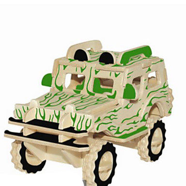 3D Puzzles Metal Puzzles Wood Model Model Building Kit Car DIY Natural Wood Classic Kid's Adults' Unisex Gift