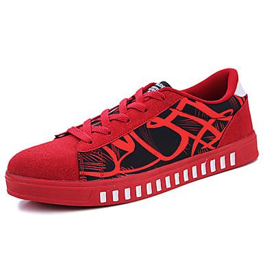Miesten kengät Canvas Kevät Syksy Comfort Lenkkitossut varten ulko- Valkoinen Punainen Sininen