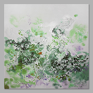 Hang-Painted öljymaalaus Maalattu - Abstrakti Abstrakti Kangas