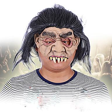 halloween täydellinen kasvot kauhu irvistys naamari naamiaiset naamiaiset siirtymässä teema mekko näki maski kasvoille huppu
