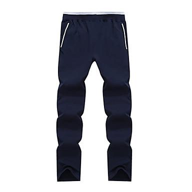 Homens Calças de Corrida Casual Calças Exercício e Atividade Física Corrida Algodão Poliéster Branco Preto Azul L XL XXL XXXL XXL-XXXL
