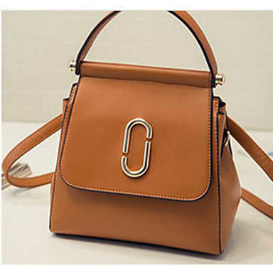 Women Bags All Seasons PU Shoulder Bag for Casual Outdoor Black Blushing Pink Brown