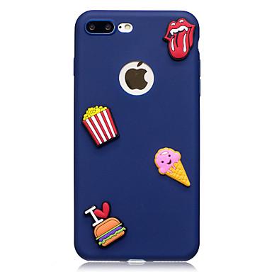 Capinha Para Apple iPhone X iPhone 8 Estampada Faça Você Mesmo Capa traseira Comida Macia TPU para iPhone X iPhone 8 Plus iPhone 8 iPhone
