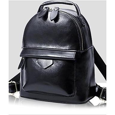 Women's Bags Cowhide Backpack for Casual All Seasons Black Wine