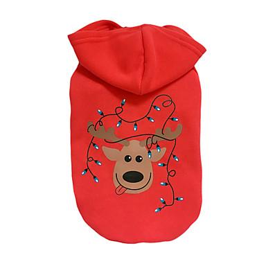 Hund Hettegensere Hundeklær Jul Jul Reinsdyr Rød Kostume For kjæledyr