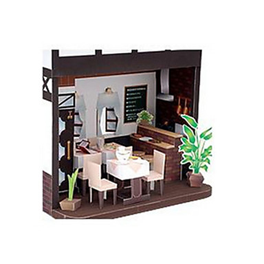 3D Puzzles Paper Model Paper Craft Model Building Kit Famous buildings House Architecture DIY Classic Unisex Gift