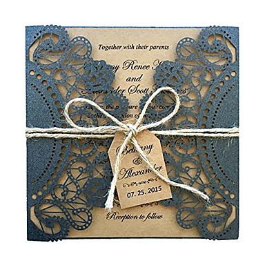 Dobra-Portão Convites de casamento Convites para Festas de Noivado Convites para Chá de Casada Convites para Chá de Bebê Cartões para o