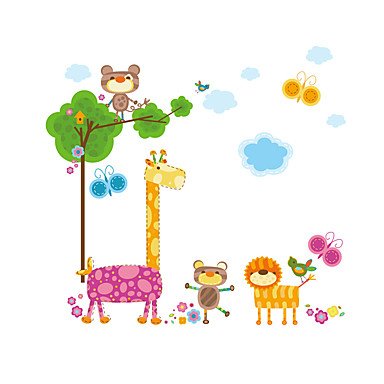 Wall Stickers Wall Decas Style Lovely Giraffe PVC Wall Stickers