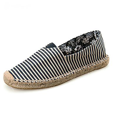 Unisexo Sapatos Algodão / Lona Verão / Outono Solados com Luzes / Alpargata / Mocassim Mocassins e Slip-Ons Sem Salto Ponta Redonda