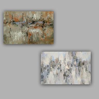 Håndmalte Abstrakt Lodrett,Kunstnerisk Abstrakt Art Deco / Retro Dekorativ Moderne Lerret Hang malte oljemaleri Hjem Dekor To Paneler