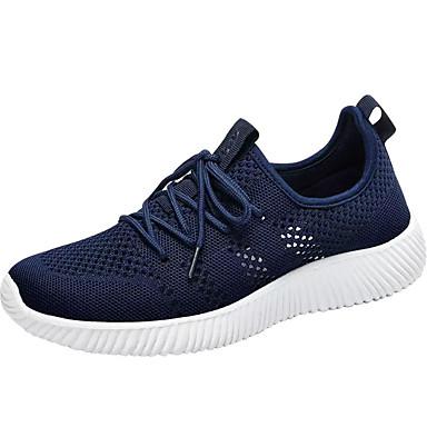 Herren Sneaker Leuchtende Sohlen Tüll Frühling Herbst Normal Fitness & Crosstraining Schnürsenkel Flacher Absatz Schwarz Blau 7,5 - 9,5 cm