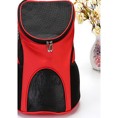 Cat Dog Carrier & Travel Backpack Front Backpack Pet Carrier Portable Breathable Solid Brown Red Light Blue
