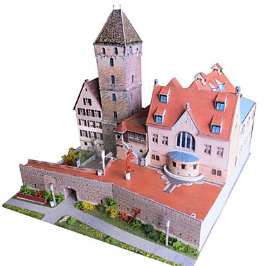3D Puzzles Paper Model Model Building Kits Paper Craft Toys Famous buildings Architecture 3D DIY Simulation Unisex Pieces
