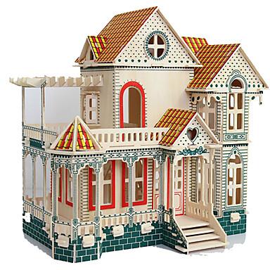 Quebra-Cabeças 3D Quebra-Cabeça Brinquedos de Montar Rectângular Construções Famosas Arquitetura Madeira Natural Crianças Adulto Para
